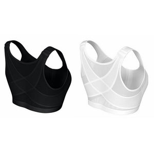 Posture Corrector Lift Up Bra Women Shockproof Sports Support Fitness Vest Bras Breathable Underwear Cross Back Corset Bra S-5XL