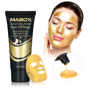 US Stock Gold Collagen Peel Off Mask 24K Gold Facial Mask Anti Aging Wrinkles Lifting Firming Whitening Tear Off Masks Skin Care