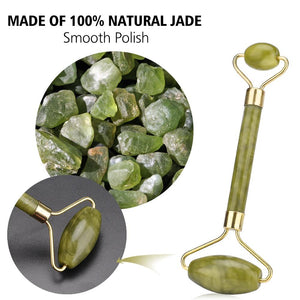 Facial Massage Roller Jade Double Head Face Slimming Body Head Neck Lifting Tool Facial Massage Roller Stone Beauty Care Tools