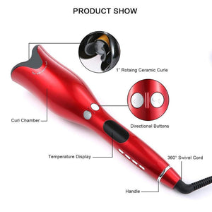 Automatic Curling Iron Air Curler Wand Curl 1 Inch Rotating Magic Hair Curling Iron Salon Tools Auto Hair Curlers Dropshipping