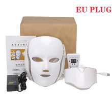 Facial Mask Photon Therapy 7 Color LED Face Instrument Neck Skin Rejuvenation Anti Acne Wrinkle Beauty Treatment Salon Home Care