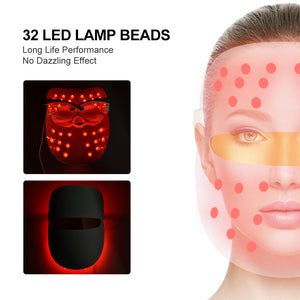 LED Photon Facial Mask Therapy 7 colors Light Skin Tightening Rejuvenation Wrinkle Acne Removal Face Anti Aging Toning Mask