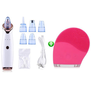 Face Clean Pore Vacuum Acne Pimple Removal Blackhead Remover Skin Care Vacuum Suction Facial Diamond Dermabrasion Tool Machine