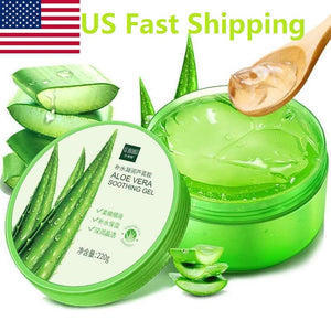 US Fast Shipping Aloe Vera Gel Natural Face Creams Moisturizer Acne Treatment Cream Sun Repair Cream Whitening Skin Care 220ML