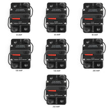 Waterproof  Circuit Breakers Reset Fuse 12V-24V DC For Auto Car Audio Marine  50A 60A 80A 150A 250A