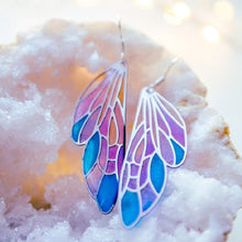 Butterfly Wing Earrings Gradient Colorful Handmade