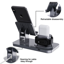3 in 1 Charging Dock Holder For iPhone X XR XS Max 8 7 6 Silicone Charger Stand for Apple Watch AirPods Charging Station Docking