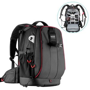 Waterproof Shockproof Adjustable Padded Camera Backpack Bag with Anti-theft Combination Lock