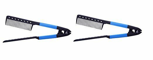 Herstyler Easy Comb, Hair Straightening Comb, Salon Quality 2 Pack (B.l.u.e)