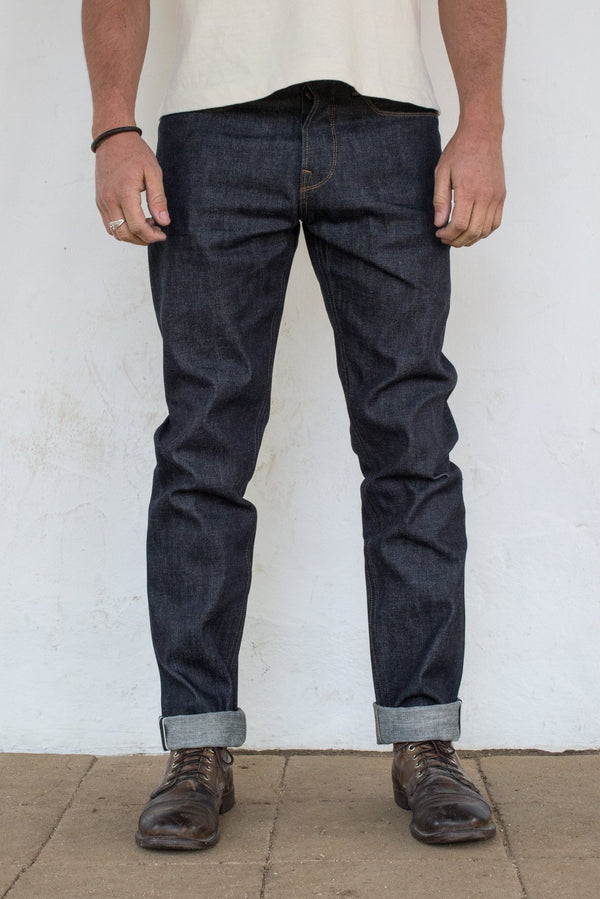 Portola Taper - Raw Selvedge Denim - Blue