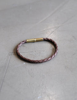 Flint Bracelet | Braided Single Wrap | Brown