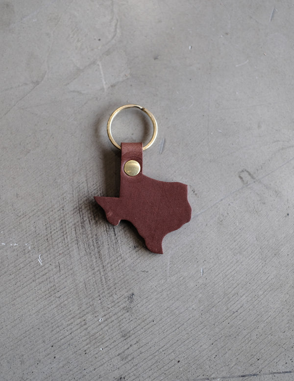 Texas Key Chain - Dark Brown
