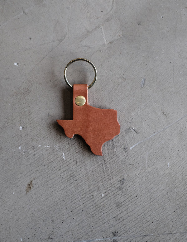 Texas Key Chain - Tan