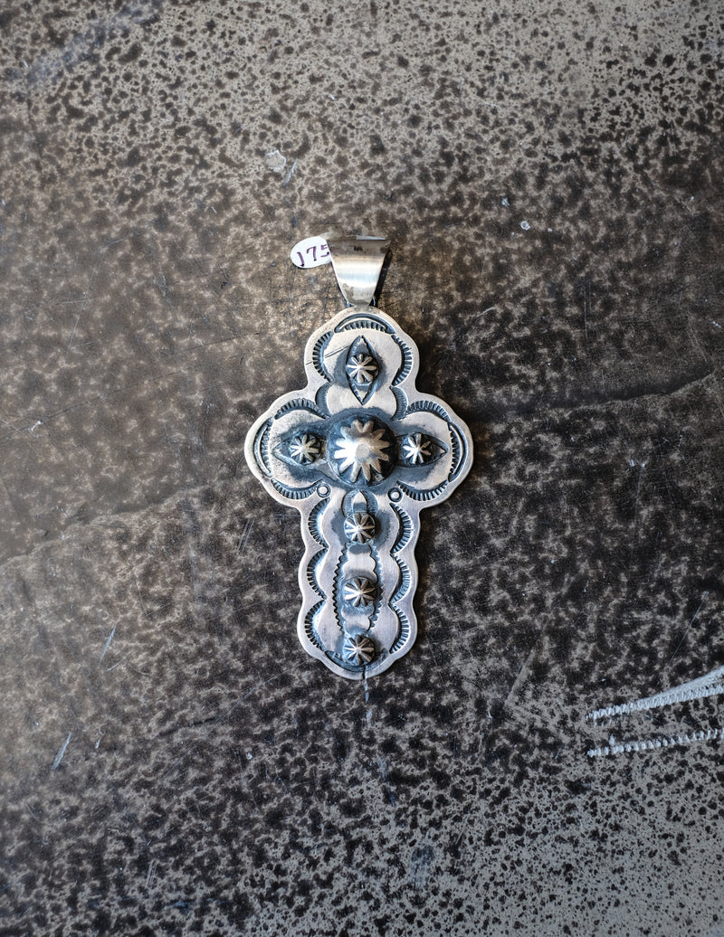 Antique Sterling Silver Cross Pendant