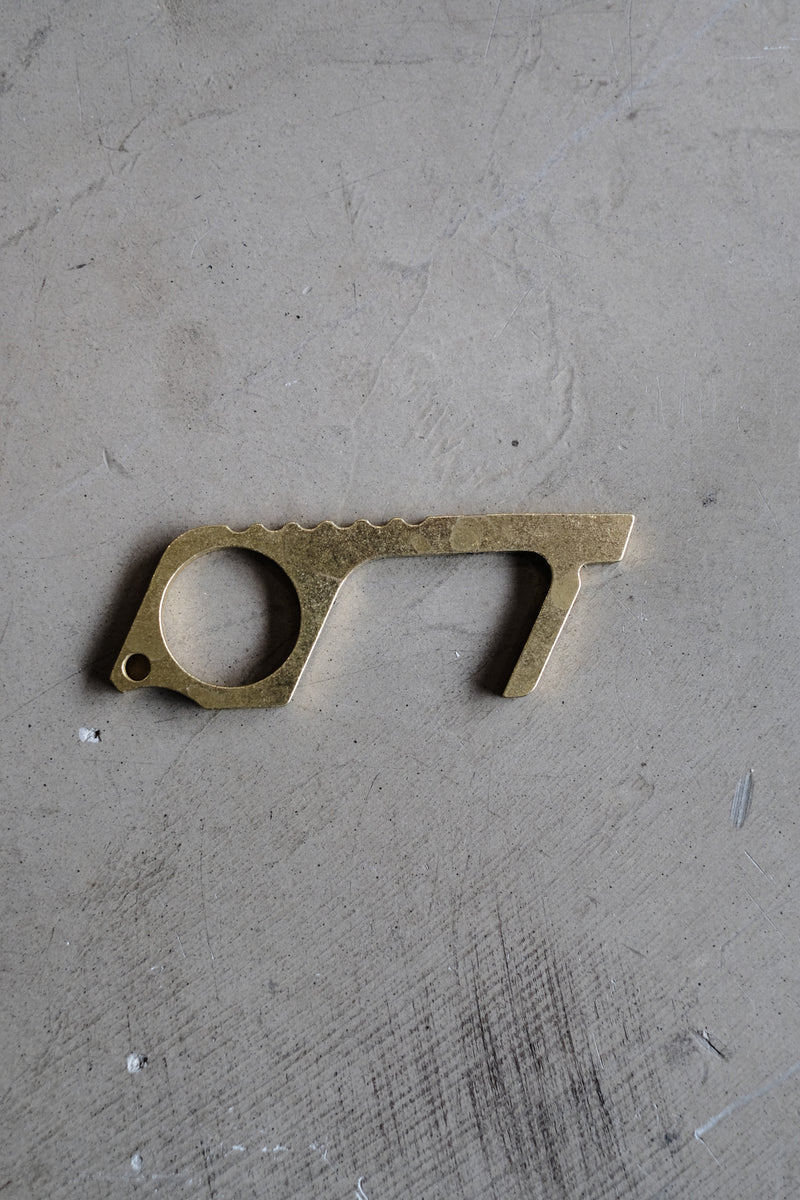 Brass No-Touch Antimicrobial Key
