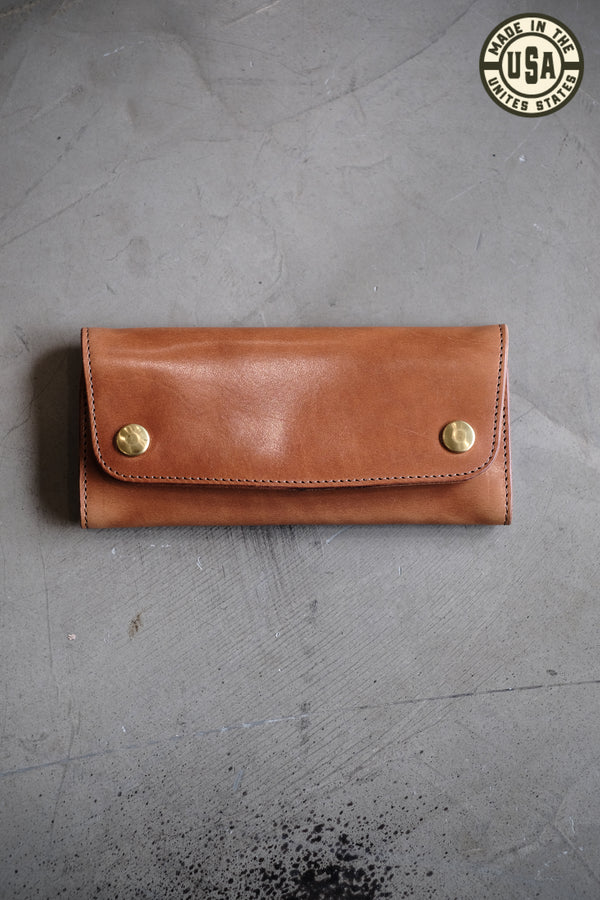 Standard Long Wallet | Buck Brown Harness Leather