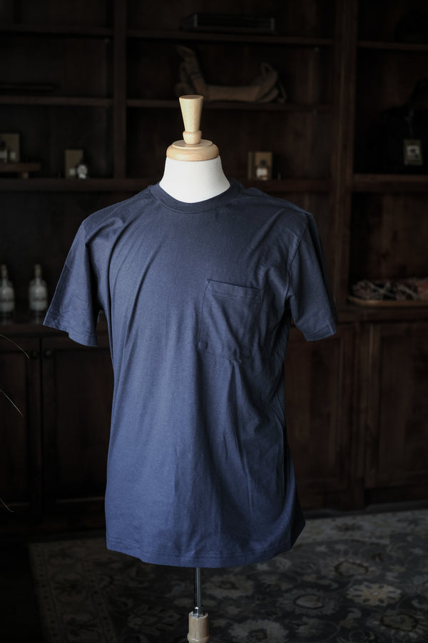 Wilkinson's Pocket Tee | Made In Texas | Navy