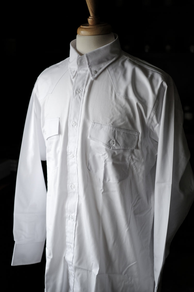 Western Classic Button Down Pinpoint Shirt | White