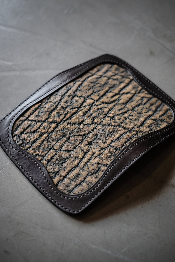 Elm Type 1 - Chocolate Italian Leather With Elephant Inlay