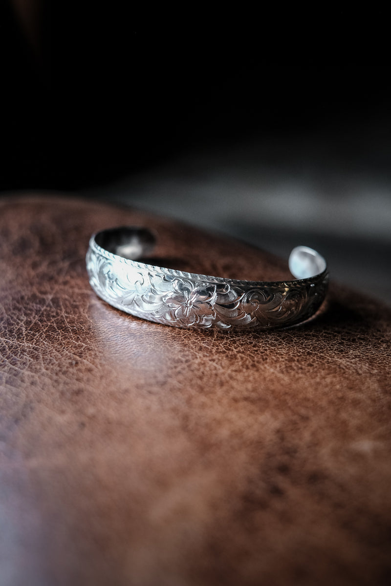 Engraved Sterling Silver Bracelet