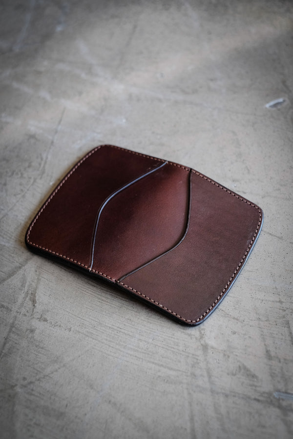 Elm Type 1 Wallet - Dark Brown Bridle Leather