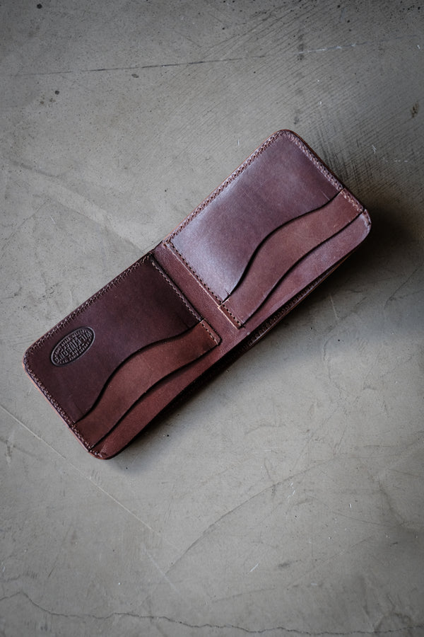 Grissom Type 1 Wallet - Dark Brown Bridle Leather