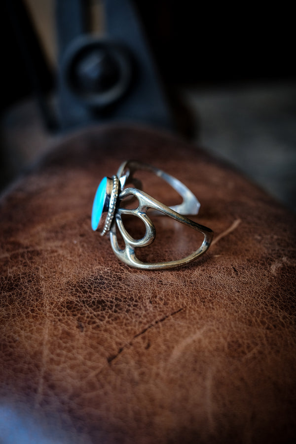 Sterling Silver + Turquoise Butterfly Cuff