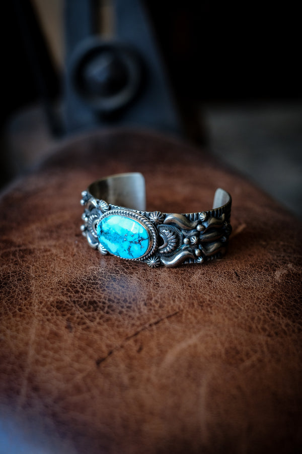Sterling Silver + Turquoise Cuff - Darryl Becenti