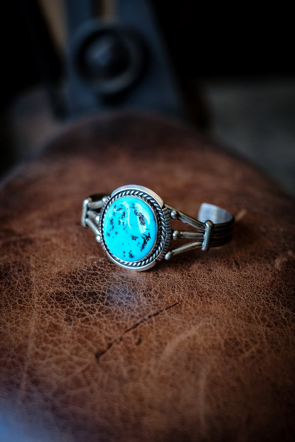 Sterling Silver + Turquoise Cuff - Eugene Belone