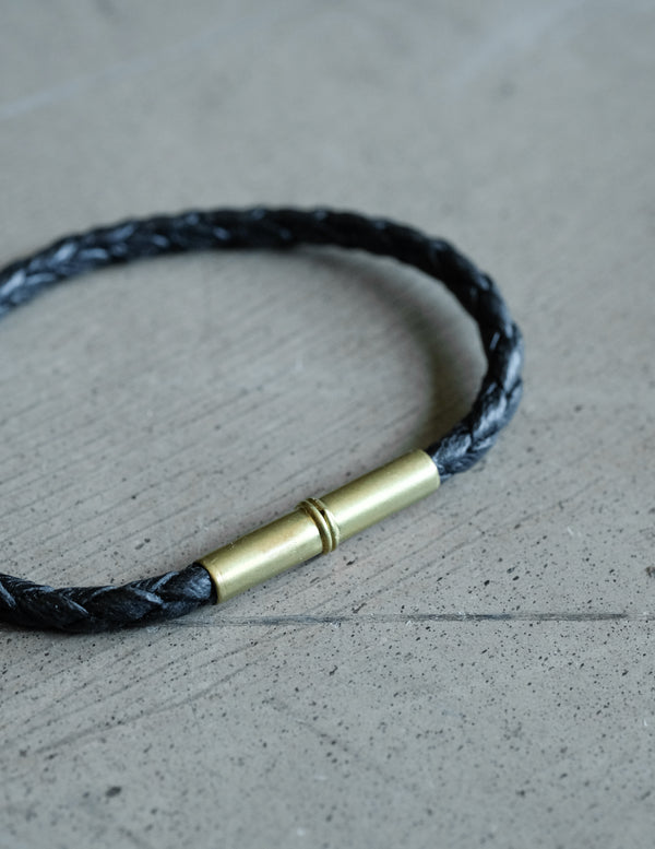 Flint Bracelet | Braided Single Wrap | Black