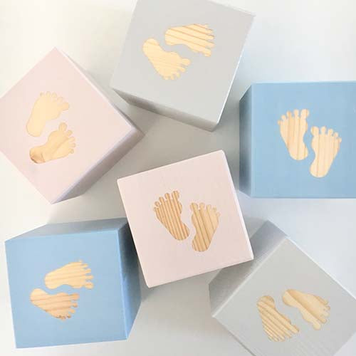 Baby Feet - Personalised Baby Cube