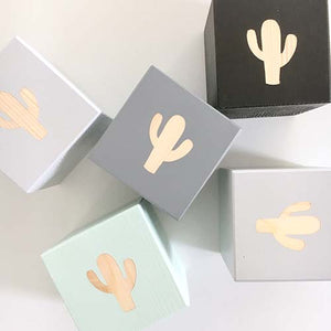 Cactus - Personalised Baby Cube Blocks