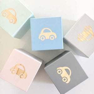 Car - Personalised Baby Cube Blocks