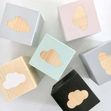 Cloud - Personalised Baby Cube Blocks