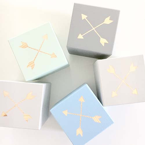 Crossed Arrows - Personalised Baby Cube Blocks