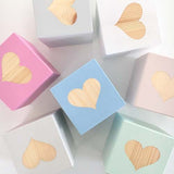 Heart - Personalised Baby Cube Block
