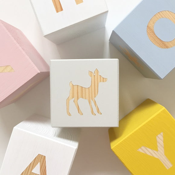 Shape Play Cube - Woodland Deer