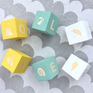 Personalised Baby Blocks - Summer Pops