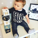 Babys Room - Black, White & Grey Splattered - Personalised Baby Cube