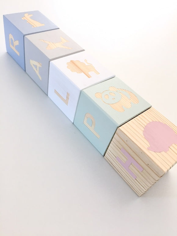 Personalised Baby Blocks - Corresponding Shapes & Letters