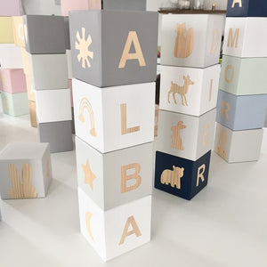 Personalised Baby Blocks - Sky Collection
