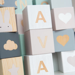 K - Personalised Baby Cube Block