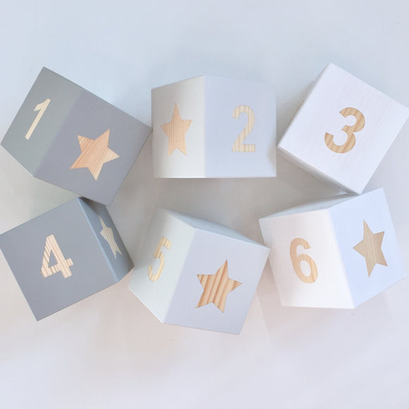 Personalised Baby Blocks - Number & Shapes