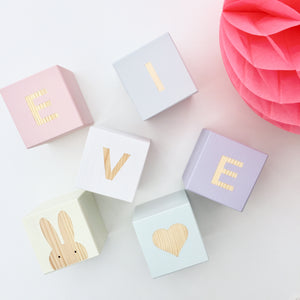 Pastel Mix - Personalised Cube Block