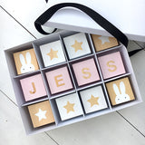 PERSONALISED GIFT BOX WITH SHAPES