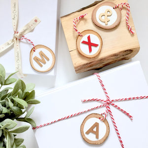 Christmas Letter Tree Slices