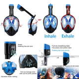 Vaporcombo Snorkel Mask 180° view for Adults and Youth. Full Face Free Breathing Design(2018 Version)
