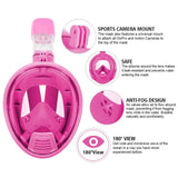 Vaporcombo  Snorkel Mask 180° view for Youth. Full Face Free Breathing Design