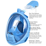 Snorkel Mask 180° view for Youth. Full Face Free Breathing Design