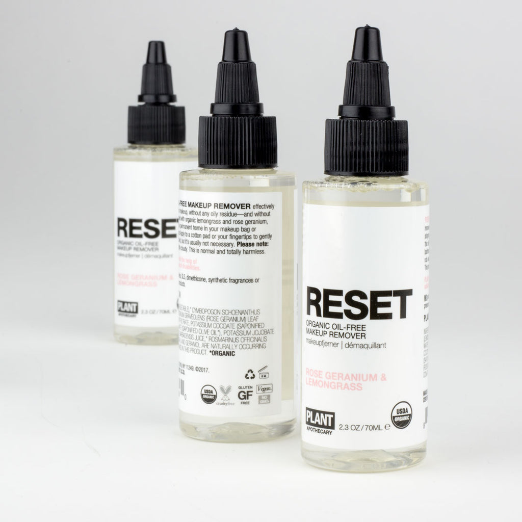 The Newest Addition to the PLANT Family: RESET Organic Oil-Free Makeup Remover!